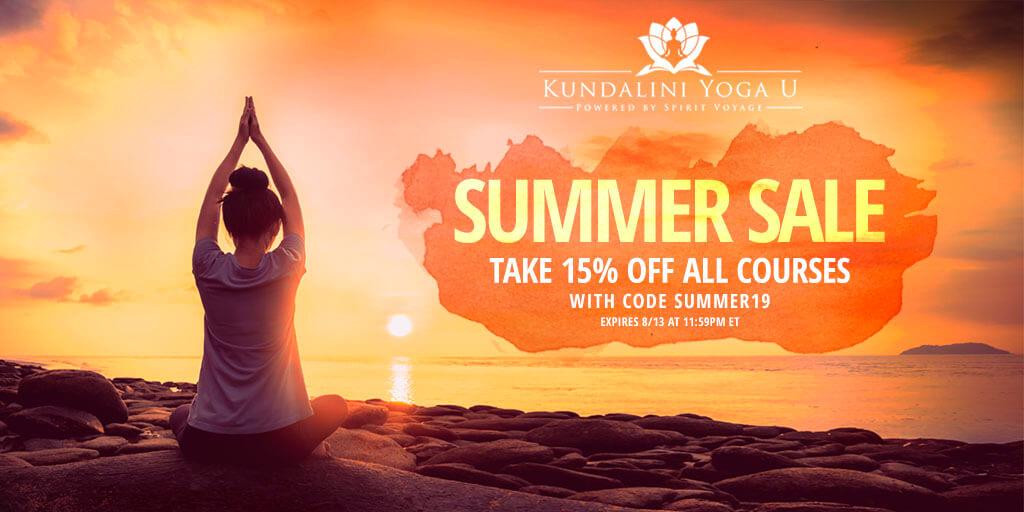 Kundalini Yoga U Summer Sale!